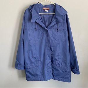 Tudor Court blue lightweight nylon jacket
